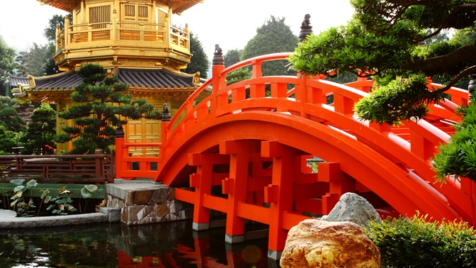 Bridge at a park in China